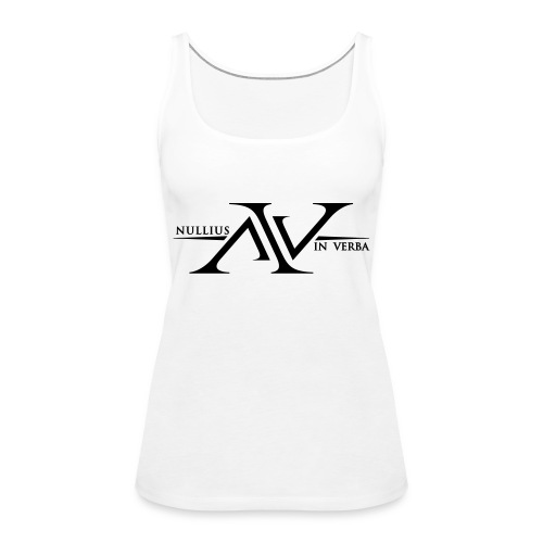 Nullius In Verba Logo - Women's Premium Tank Top
