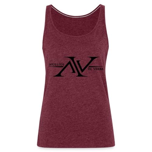Nullius In Verba Logo - Women's Premium Tank Top