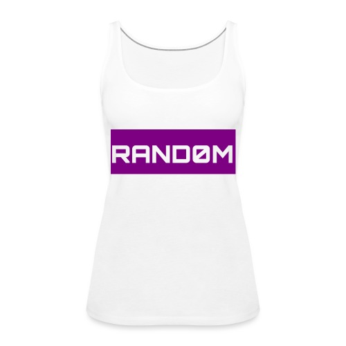 RAND0M SMALL LOGO - Women's Premium Tank Top