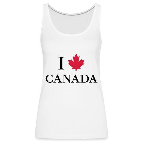 I love Canada Ahornblatt Kanada Vancouver Ottawa - Frauen Premium Tank Top