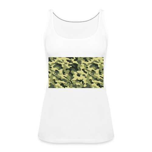 camouflage slippers - Vrouwen Premium tank top