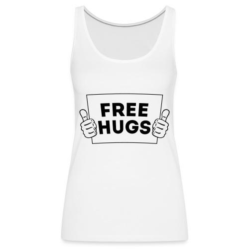 FREE HUGS! Daumen Hoch / Like Schild 1C - Frauen Premium Tank Top
