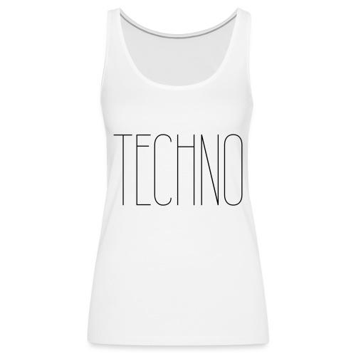 TECHNO #1 - Frauen Premium Tank Top
