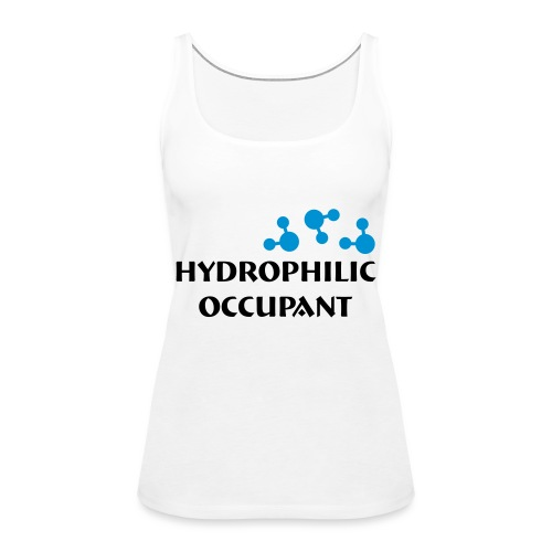 Hydrophilic Occupant (2 colour vector graphic) - Women's Premium Tank Top