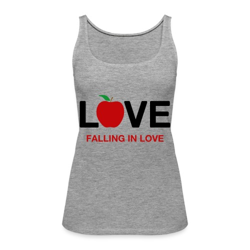 Falling in Love - Black - Women's Premium Tank Top