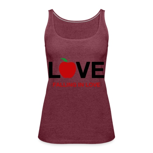 Falling in Love - Black - Women's Premium Tank Top