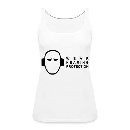 reflective vest - wear hearing protection - Women's Premium Tank Top
