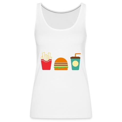 Fast Food - Canotta premium da donna