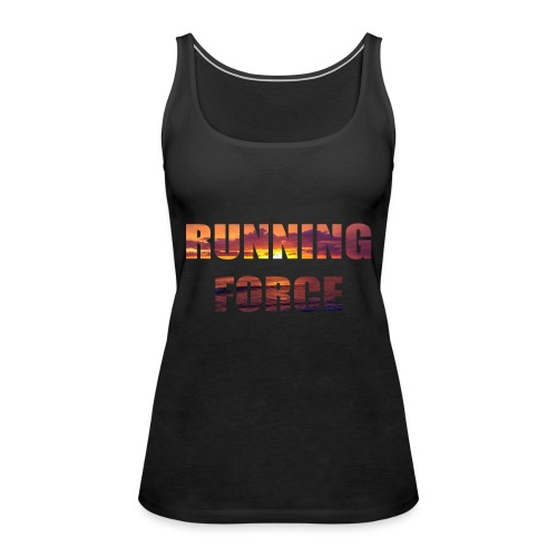 Logo-Shirt RUNNINGFORCE - Frauen Premium Tank Top