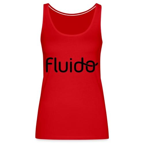 fluidologo_musta - Naisten premium hihaton toppi
