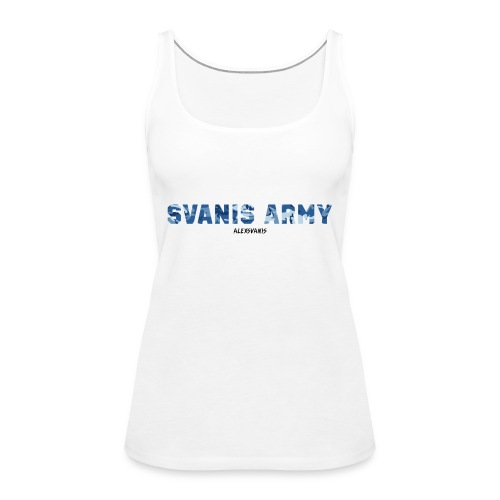 SVANIS ARMY (ALEXSVANIS SVART TEXT) - Premiumtanktopp dam