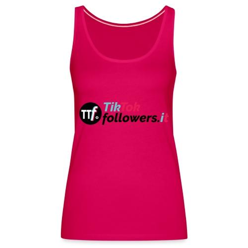 ttfollowers logo - Canotta premium da donna