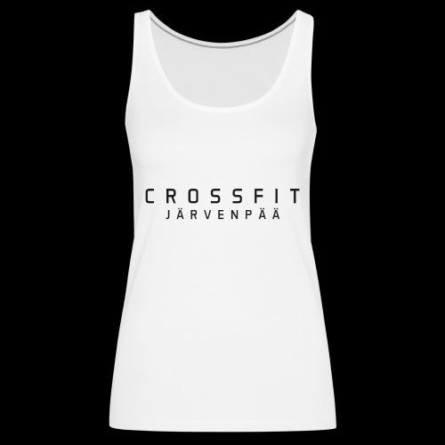 CrossFit Järvenpää mustateksti - Naisten premium hihaton toppi