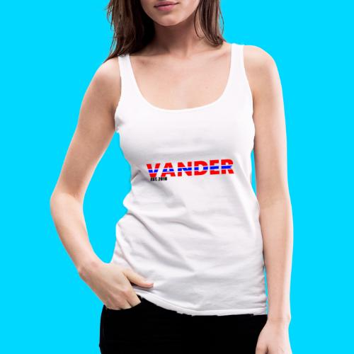 Vander in Red, white and blue. - Women's Premium Tank Top
