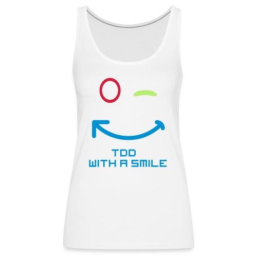 TDD met een glimlach - Vrouwen Premium tank top