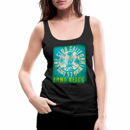 Long Beach Surf Club California 1976 Gift Idea - Women's Premium Tank Top