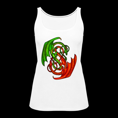 Entwined Dragons - Women's Premium Tank Top