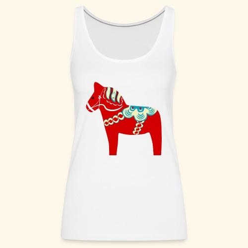 Röd dalahäst - Premiumtanktopp dam