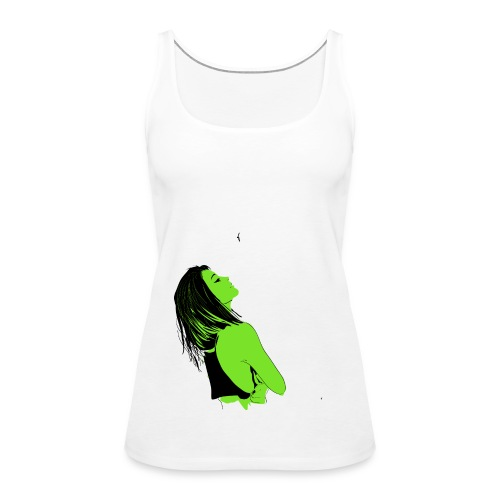 drawings of girl - Women's Premium Tank Top