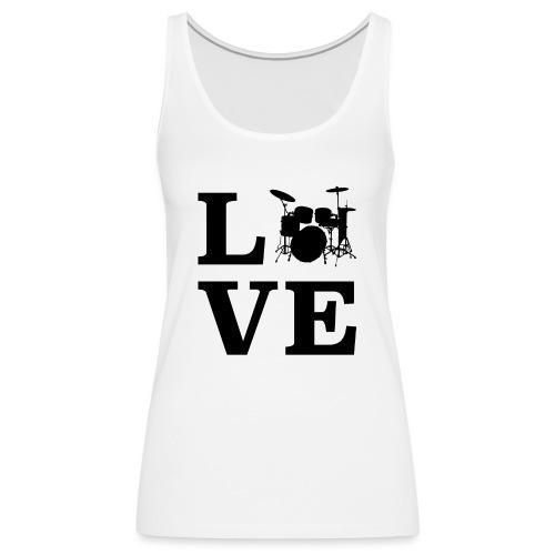 I Love Drums / Schlagzeug T Shirt für Schlagzeuge - Frauen Premium Tank Top