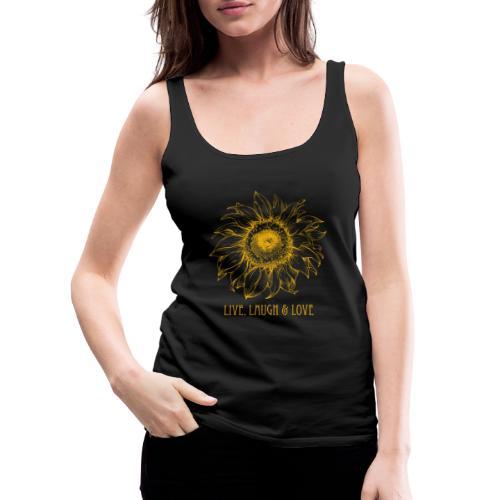 Sonnenblume Zeichnung - Frauen Premium Tank Top