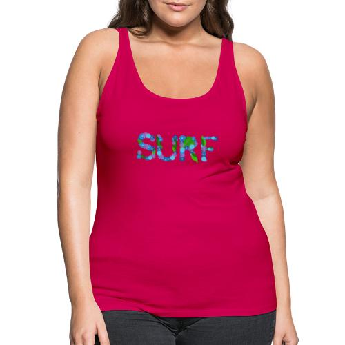 surf flowers - Women's Premium Tank Top