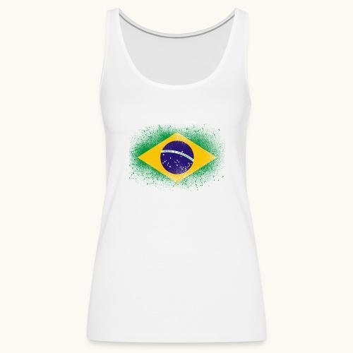 Drapeau brésilien cadeau du Brésil - Débardeur Premium Femme