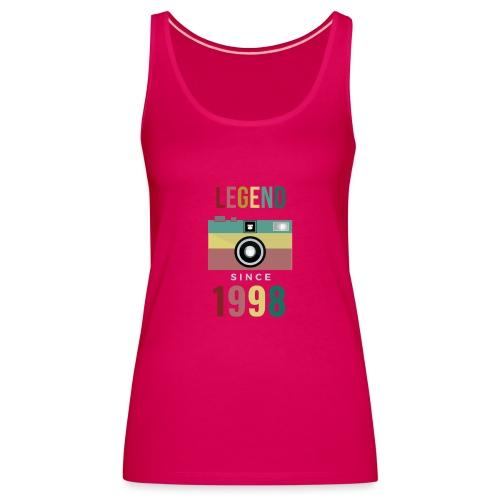 Legend since 1998 birthday t-shirt - Vrouwen Premium tank top