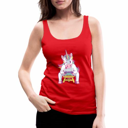 gamer unicorn - Frauen Premium Tank Top
