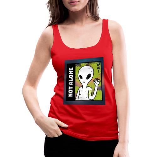 alien t shirt design maker featuring a smiling ali - Dame Premium tanktop