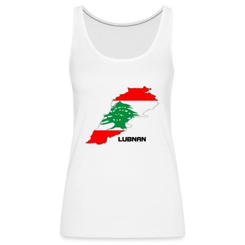 libanon landkarte - Frauen Premium Tank Top