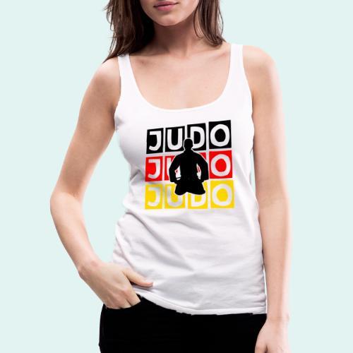 Judo Motiv Schwarz Rot Gold - Frauen Premium Tank Top