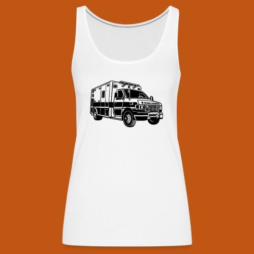 Krankenwagen / Rettungswagen 01_schwarz - Frauen Premium Tank Top