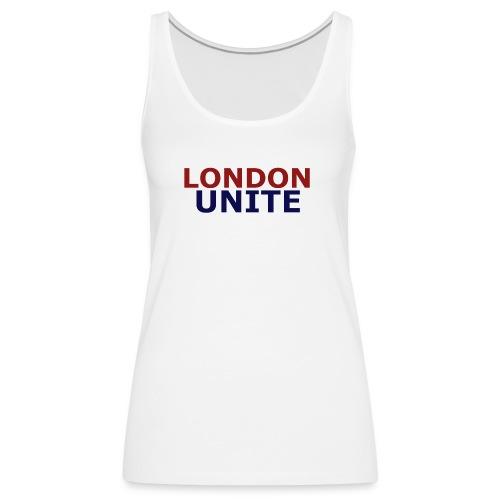 London Unite White T-Shirt - Women's Premium Tank Top