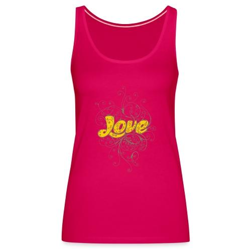 Scritta Love con decorazione - Canotta premium da donna