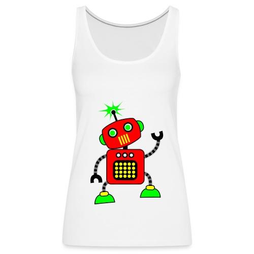 Robot1 png - Vrouwen Premium tank top