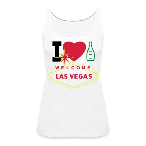 create your own I love champagne t-shirts and - Women's Premium Tank Top