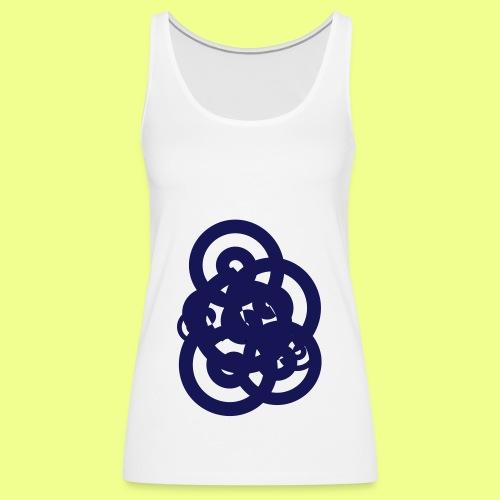 espirales azul - Camiseta de tirantes premium mujer