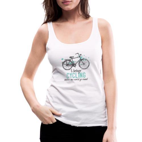 Retro Style Vintage Fahrrad Zeichnung - Frauen Premium Tank Top