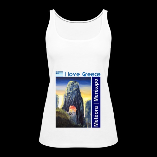 I love Greece. Blue Meteora - Frauen Premium Tank Top