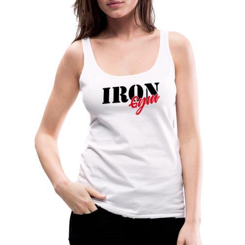 iron gym logo black - Camiseta de tirantes premium mujer