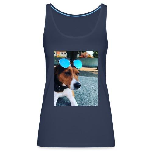 Hund mit Sonnenbrille - Frauen Premium Tank Top