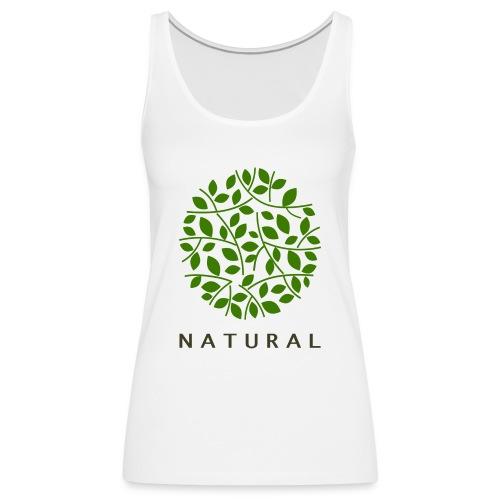 natural - Camiseta de tirantes premium mujer