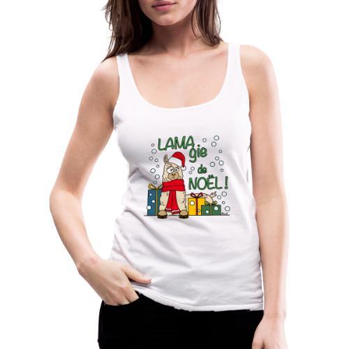 Lama, Magie de Noël, Happy Christmas, Pull moche - Débardeur Premium Femme