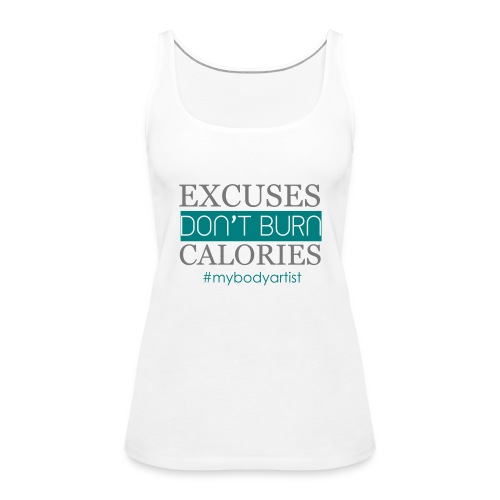 Excuses rosa-weiß - Frauen Premium Tank Top