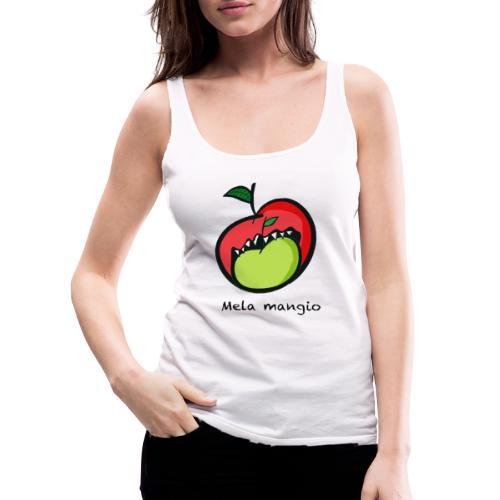 Angry for apple-Mela mangio - Canotta premium da donna