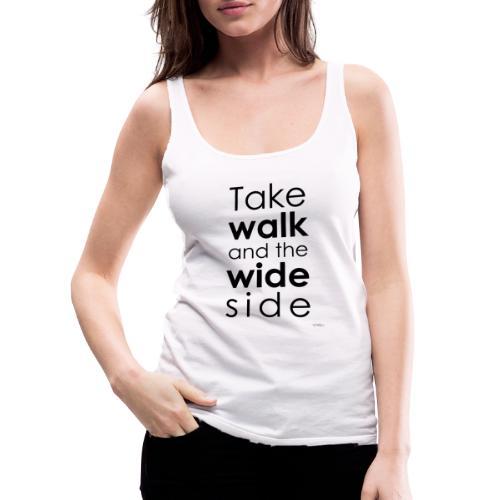 LOU-REDD-walk-black - Women's Premium Tank Top