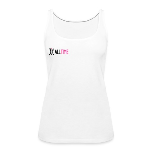 fit all time grÅn ohne b - Frauen Premium Tank Top