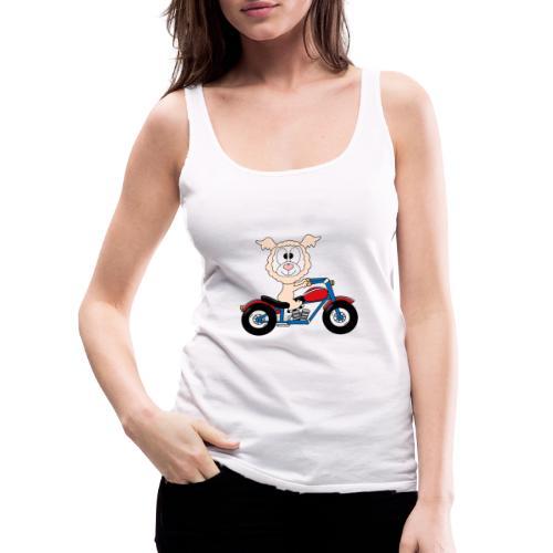 Lustiges Lama - Alpaka - Motorrad - Biker - Fun - Frauen Premium Tank Top