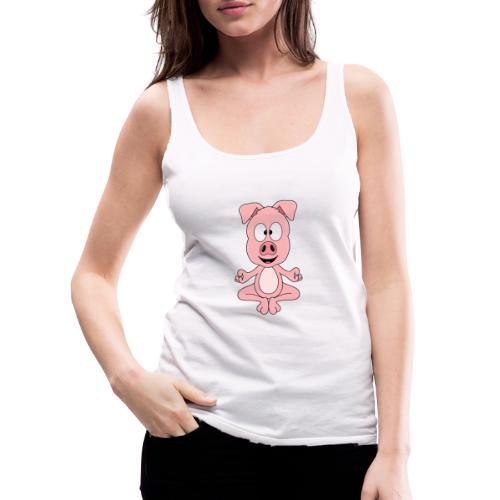 Lustiges Schwein - Yoga - Chill - Relax - Tier - Frauen Premium Tank Top